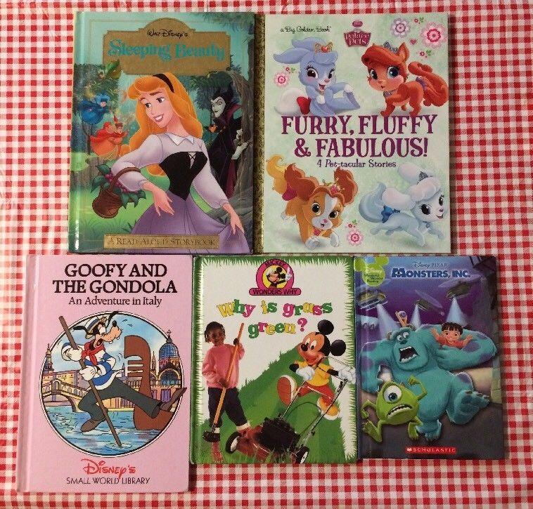 5 Disney Pixar Books Sleeping Beauty Palace Pets Goofy Mickey