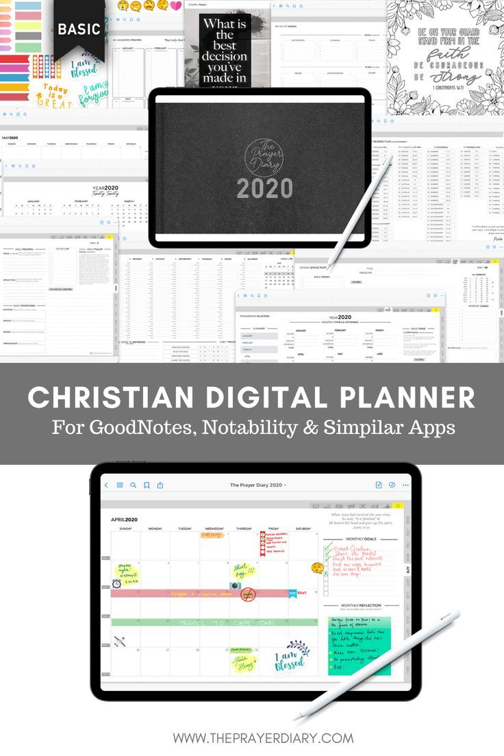 Minimalist Christian Digital Planner for GoodNotes in 2020