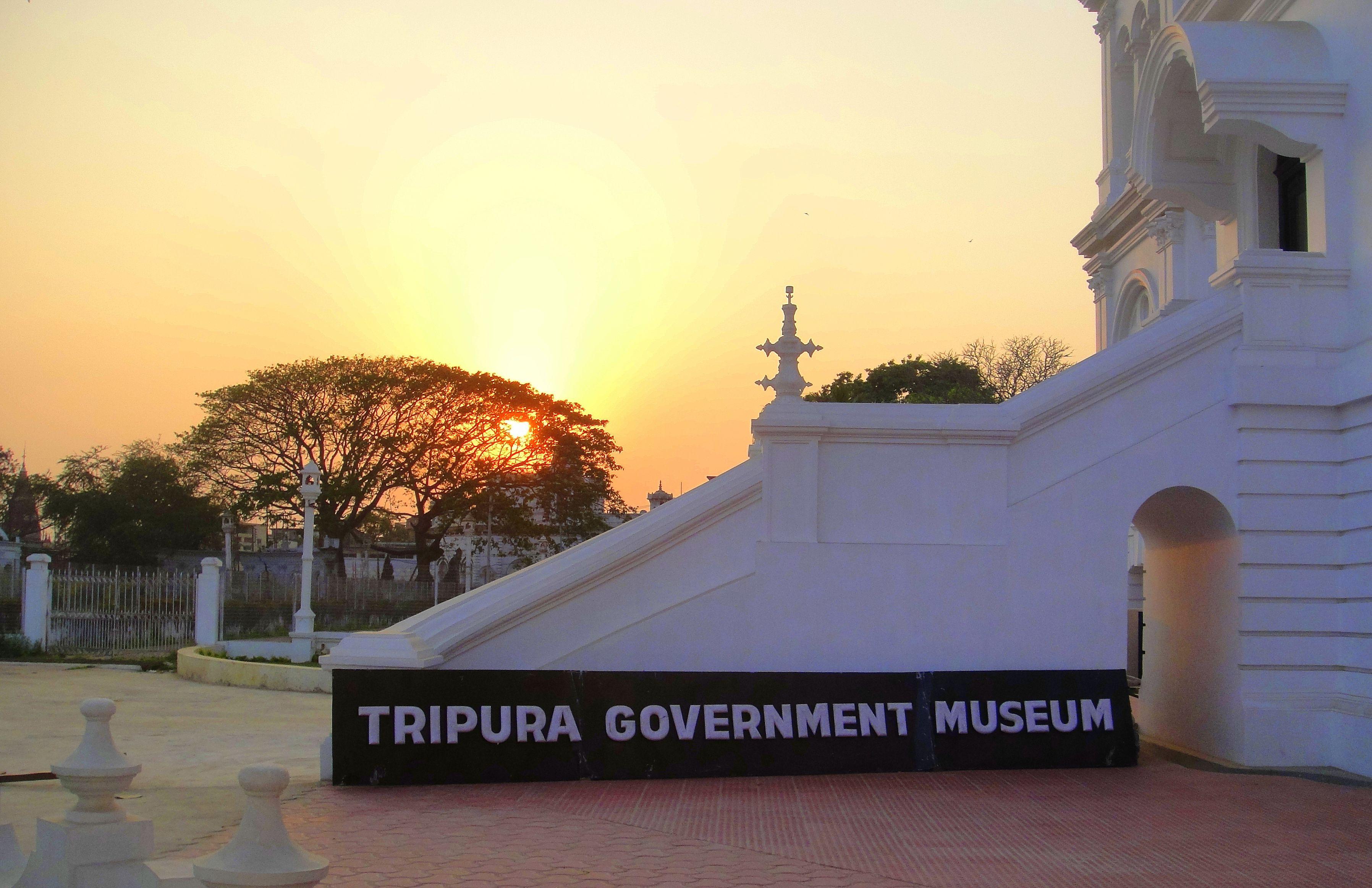The Ujjayanta palace and museum. Tripura, India.