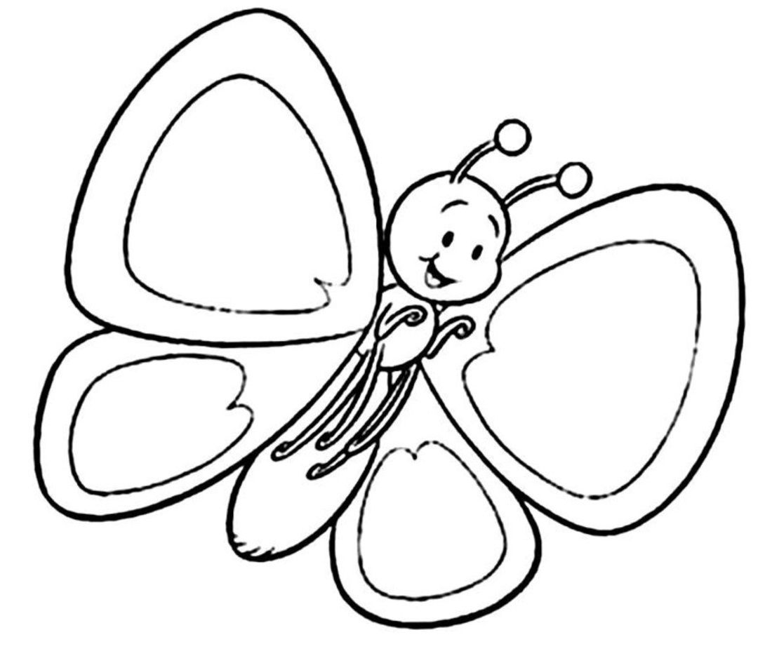 Colouring In For Kids Simple Butterfly Coloring Page Spring Coloring Pages Flower Coloring Pages