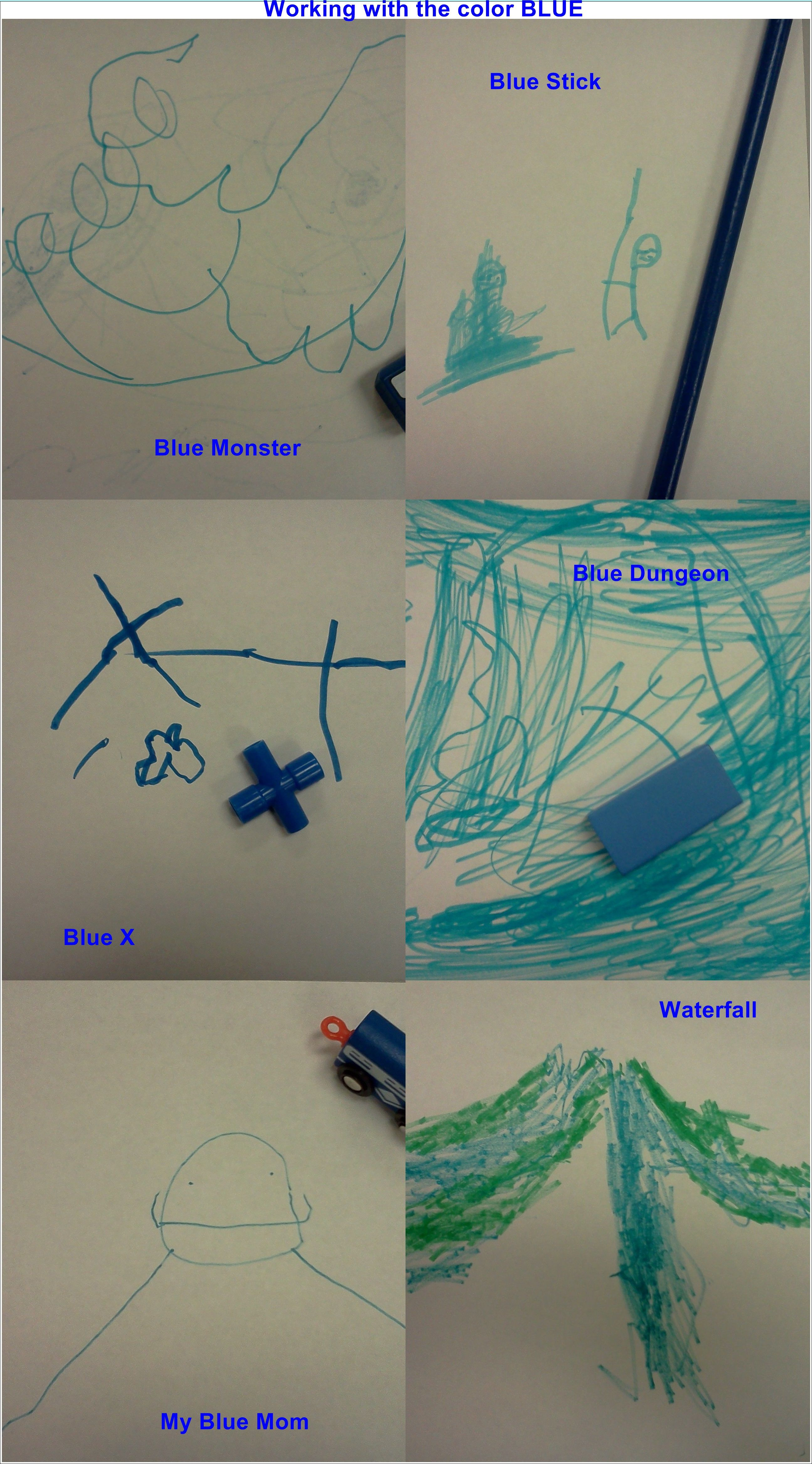 Our Blue pictures, great way to review the color