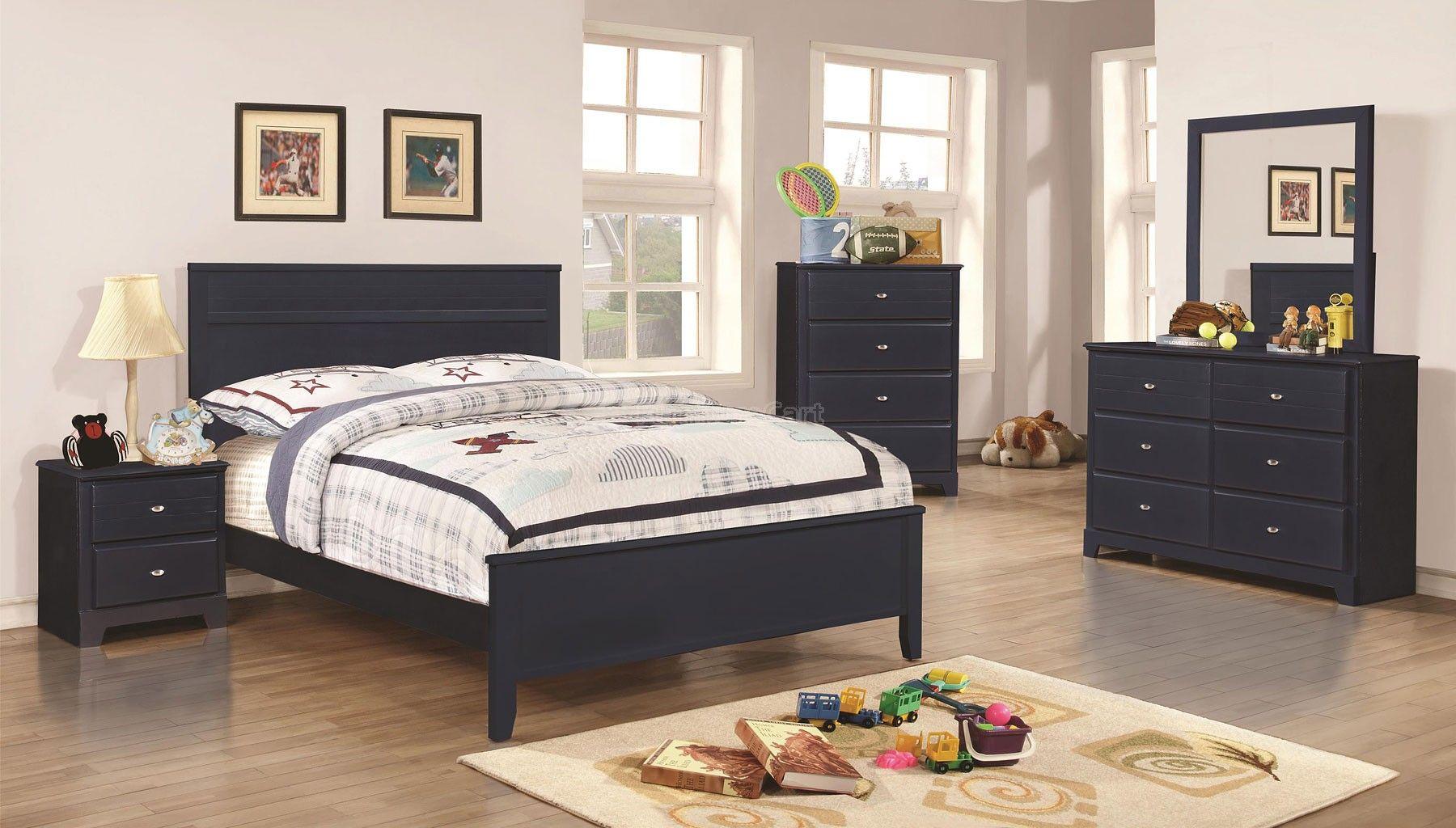 Ashton Youth Bedroom Set Navy Coaster Furniture Furniture Bedroom Set Blue Bedroom Furniture