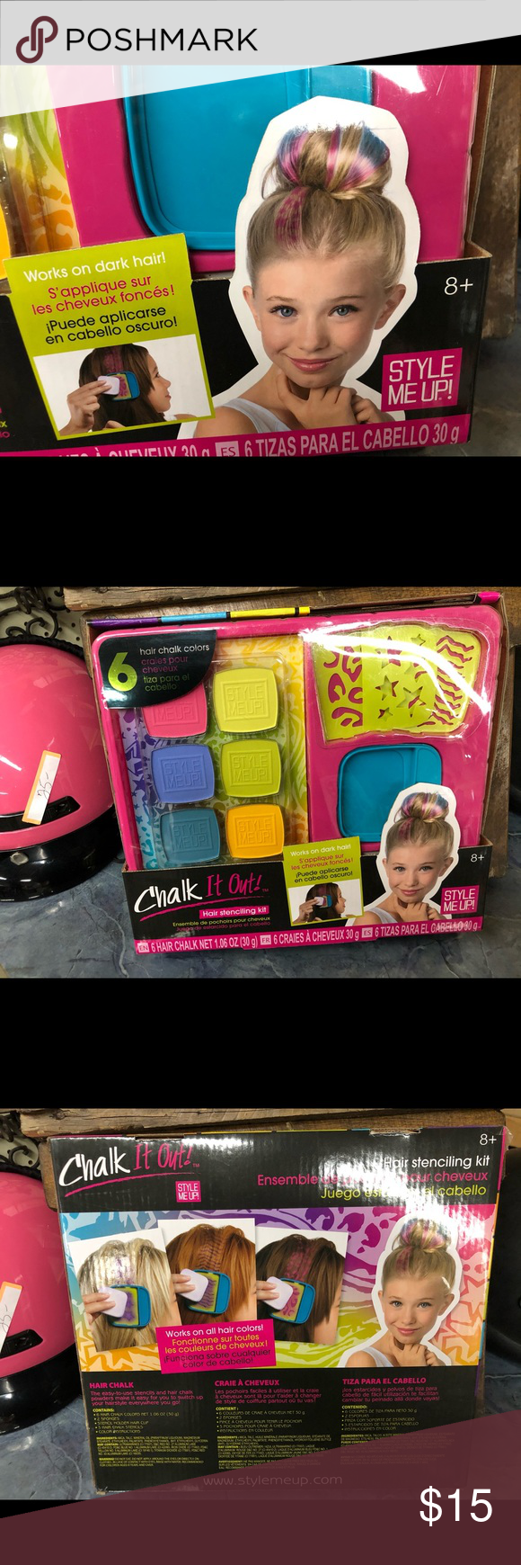 Chalk It Out Hair Chalk Colors Nwt Hair Chalk Hair Stenciling Chalk Colored Hair