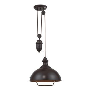 Elk Lighting Farmhouse Single Light Oiled Bronze Pendant