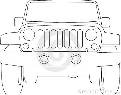 Cartoon Jeep Front View
