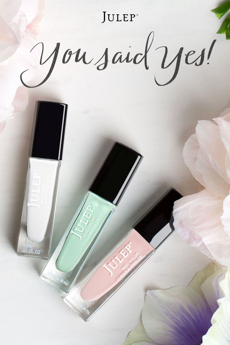 You can get these wedding palette polishes and a perfectly pink lip ...