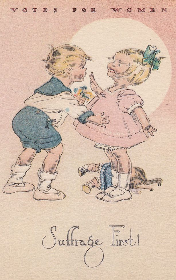 vintage valentines to celebrate voting ephemera envy the national w suffrage publishing co circulated pro suffrage cards designed by the campbell art company the same group of illustrators that produced