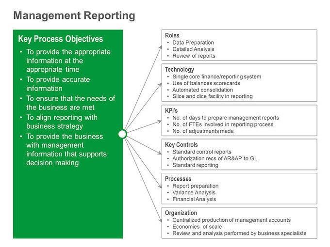 Management Reporting Single Slide  Project Management