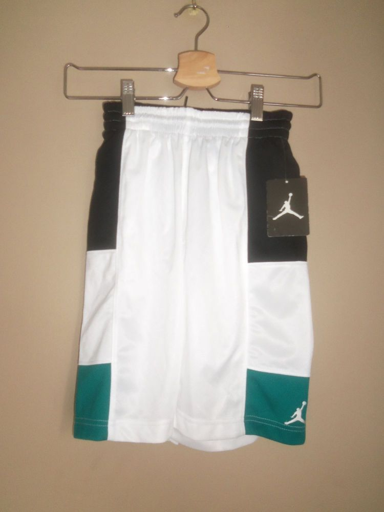 0483be9d8815 NWT  35 NIKE AIR JORDAN WHITE BLACK PULL ON BASKETBALL SHORTS SIZE S 8 10  YEARS  fashion  clothing  shoes  accessories  kidsclothingshoesaccs ...