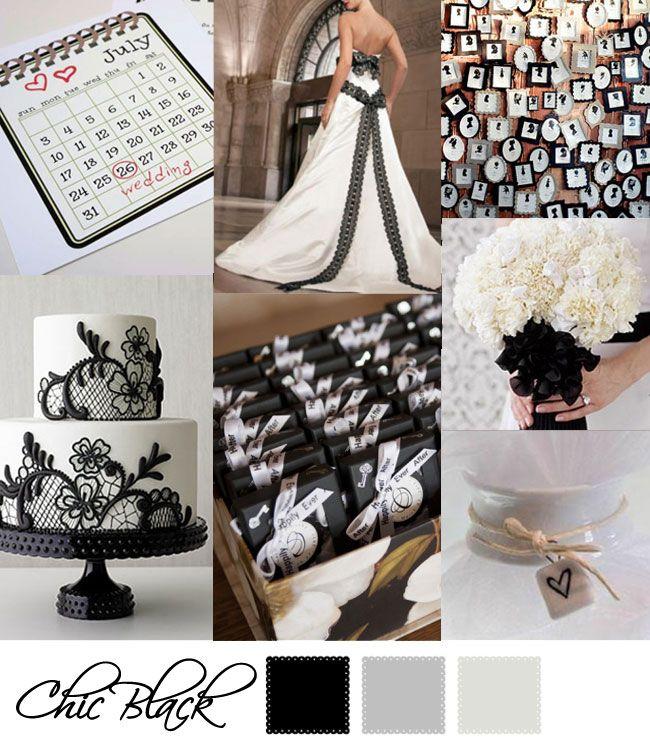 Wedding Moodboard | Chic Black