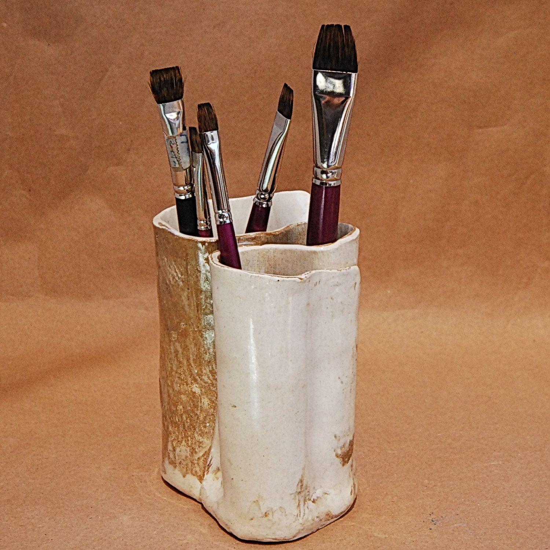 Toothbrush Holder, Pottery Makeup Brush Holder, Ceramic