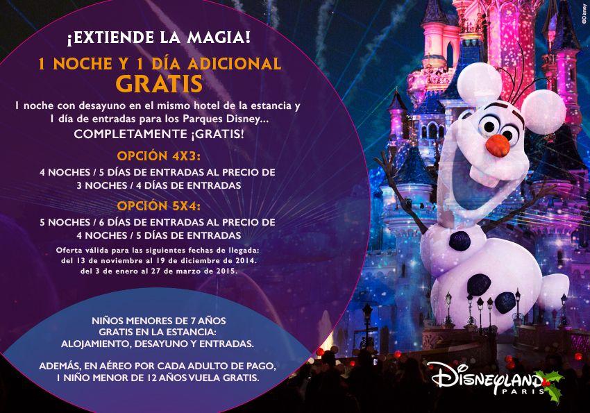 ¡Extiende la Magia! Tu viaje a #DisneylandParis con una noches y un día adicional ¡gratis! Infórmate en nuestras agencias de viajes y colabora en la campaña de Ayuda en Acción #20000leguasdeviajesolidario.