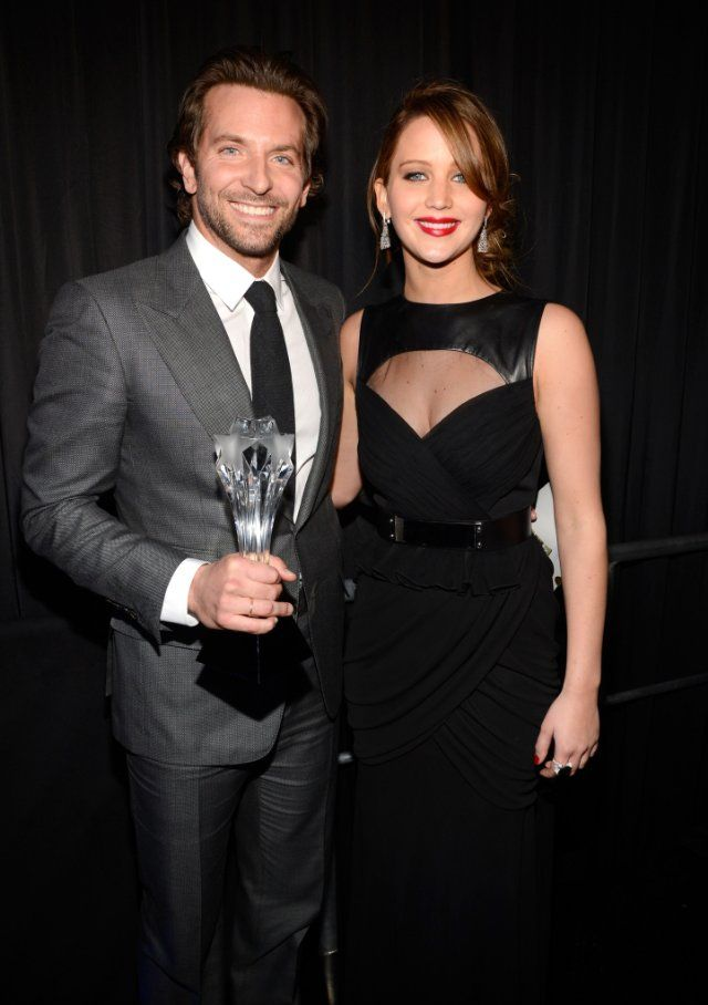 Bradley Cooper and Jennifer Lawrence at the Critic's Choice Awards