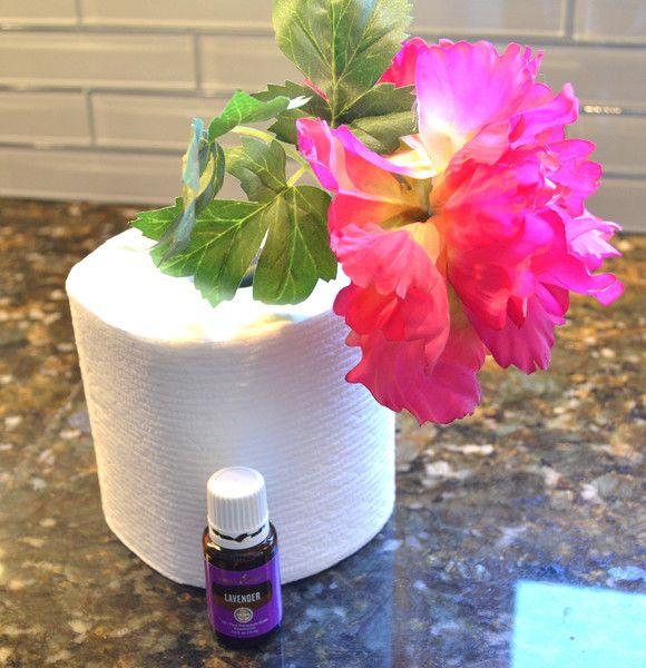 diy bathroom freshener using toilet paper roll and