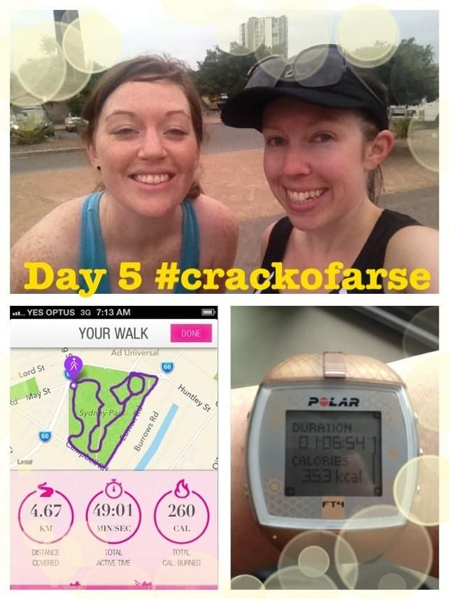 @jess12wbt  Day 5 of #crackofarse; A lovely walk with @JennaEloise :)