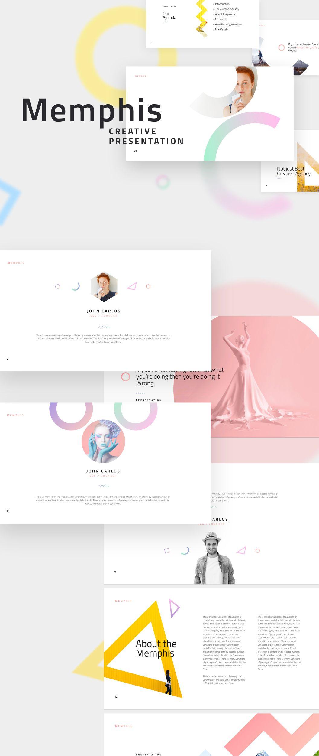 Ui8 Products Memphis Unique Web Design Presentation Presentation Design