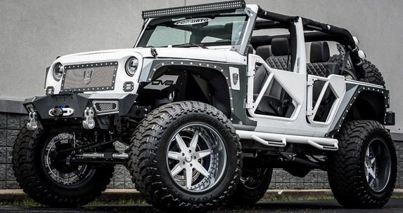 Bms Jeep Wrangler Betty White Cars Show Custom Jeep White