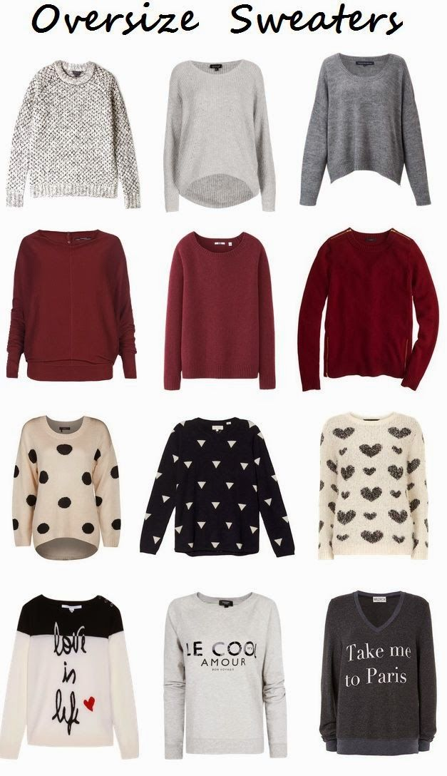 some cute ladies oversize sweaters for winter fashion
