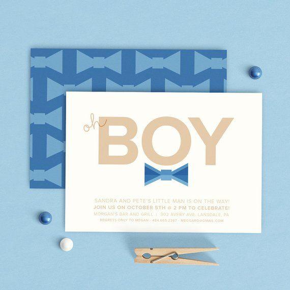 4d734471fb79 Bow Tie Shower Invitation, Little Man Bow Tie Invitation, Boy Bow Tie  Invitation, Boy Baby Shower Bo