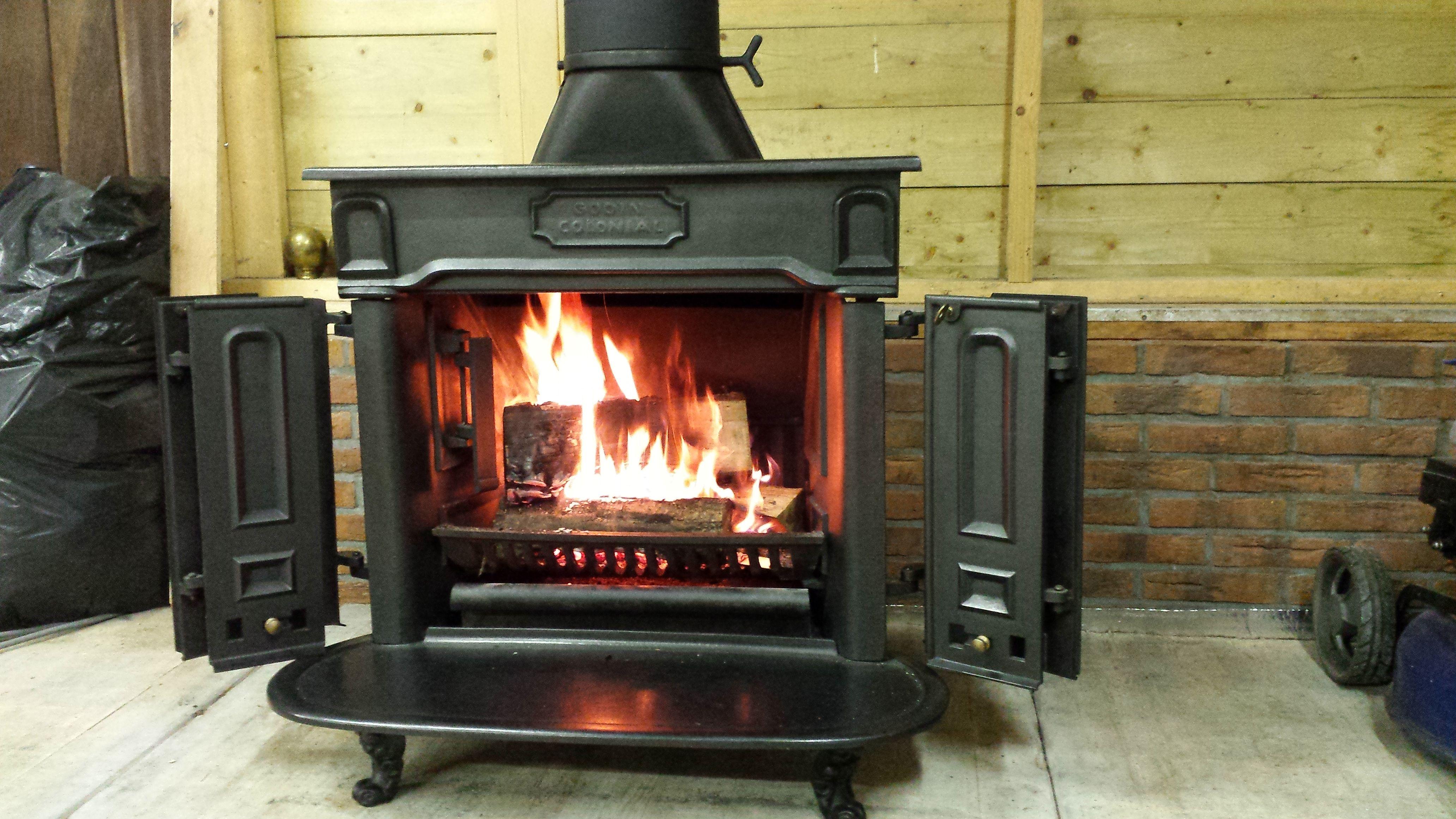 godin colonial in de stal walsoorden pinterest colonial stove