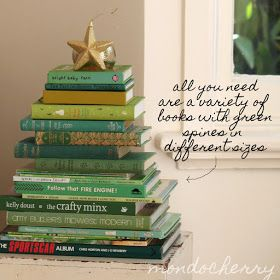 A small bite of mondocherry: decorating with books for Christmas...