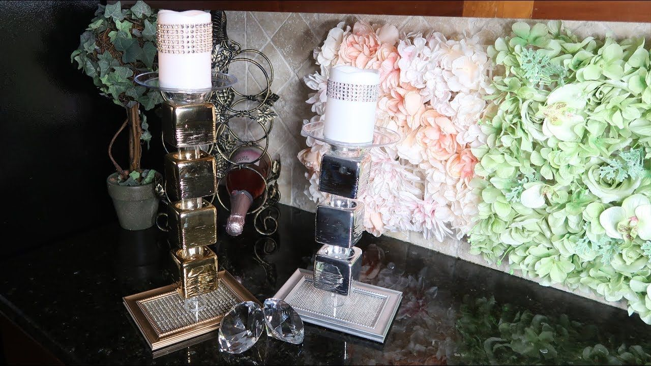 Diy dollar tree z gallerie candle holder projects pinterest