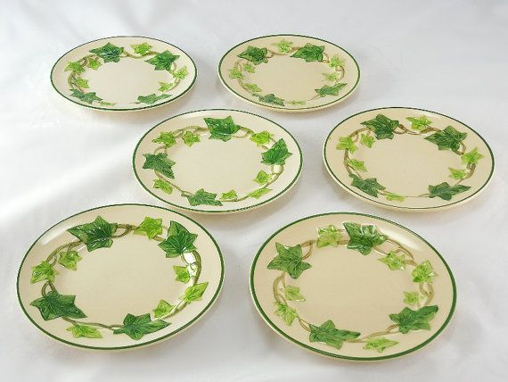 Vintage Franciscan Ware Ivy Pattern Made In California USA 40 Bread Enchanting Franciscan Ware Patterns