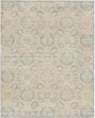 Surya Carlisle Classic Floral 7 10 X 9 10 Area Rug In Cream In