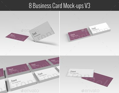 Check Out New Work On My Behance Portfolio Business Card Mockups V3