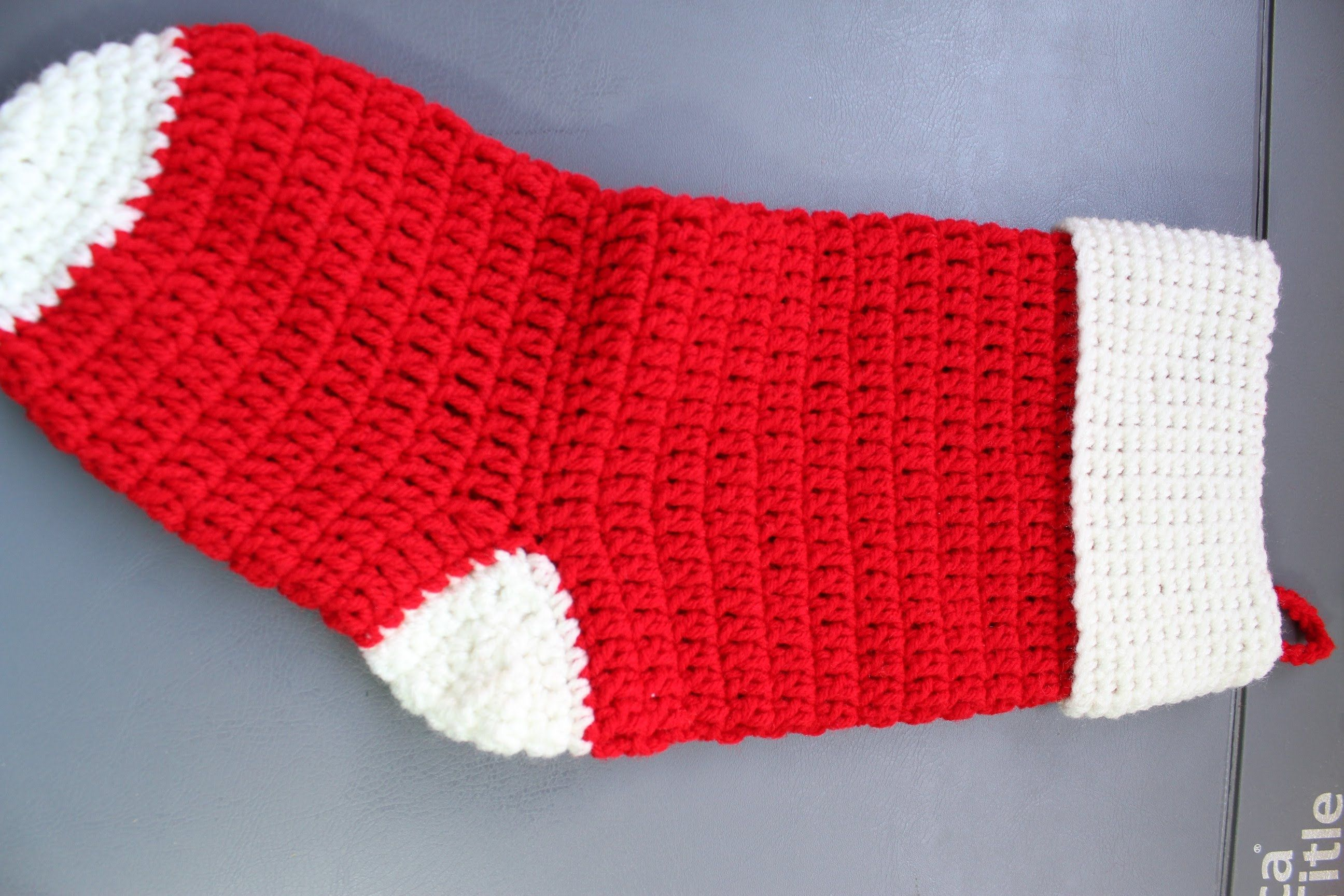How to Crochet Christmas Stocking Cuff | ^ Christmas YARN ...