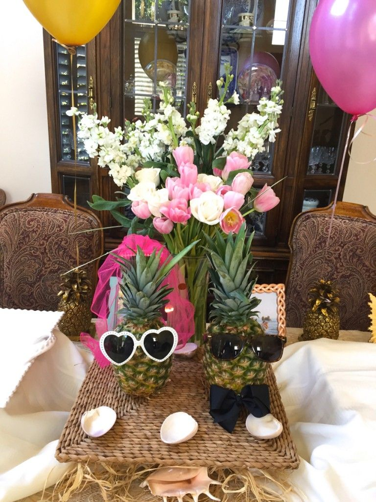 50s wedding decoration ideas  pineapple theme bridal shower decorations  my day will come