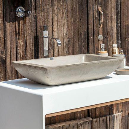 Lavabo de baño BETON Ref. 81908901 - Leroy Merlin ...