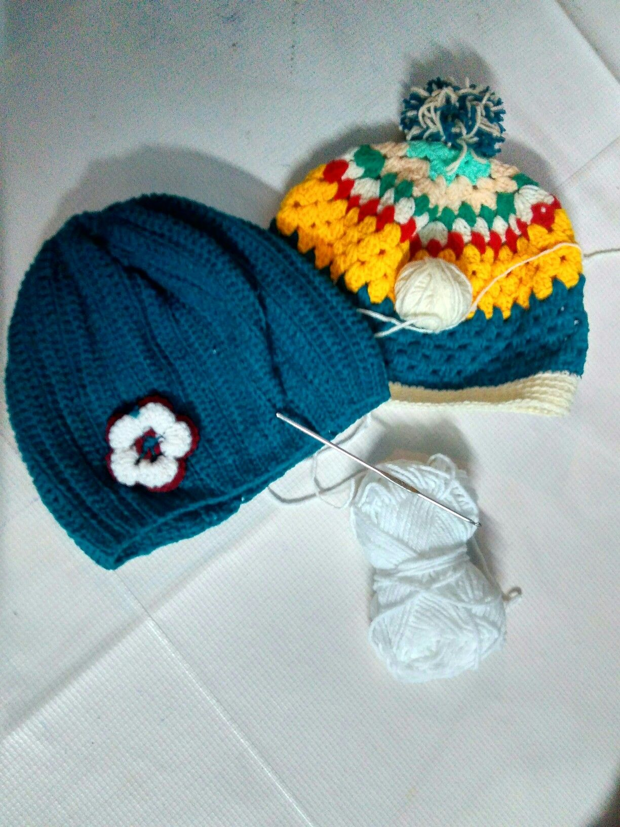 Crochet colorful hat upto 1 year baby
