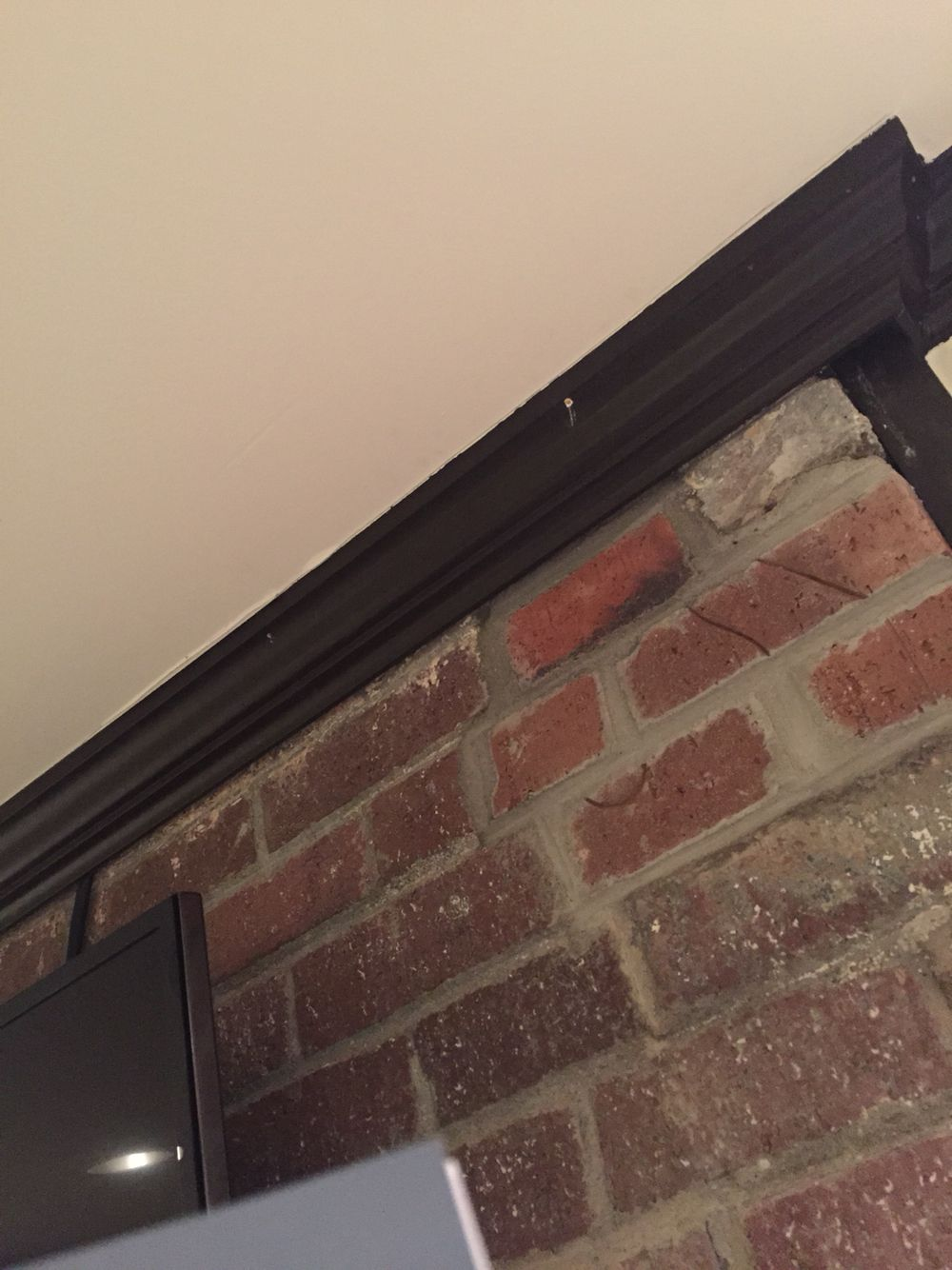 Build Out Crown Moulding Above The Tv To Feed Hide Cord Tv