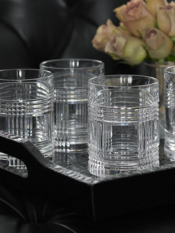 Glen Plaid 4Piece Glass Set Barware & Stemware Barware