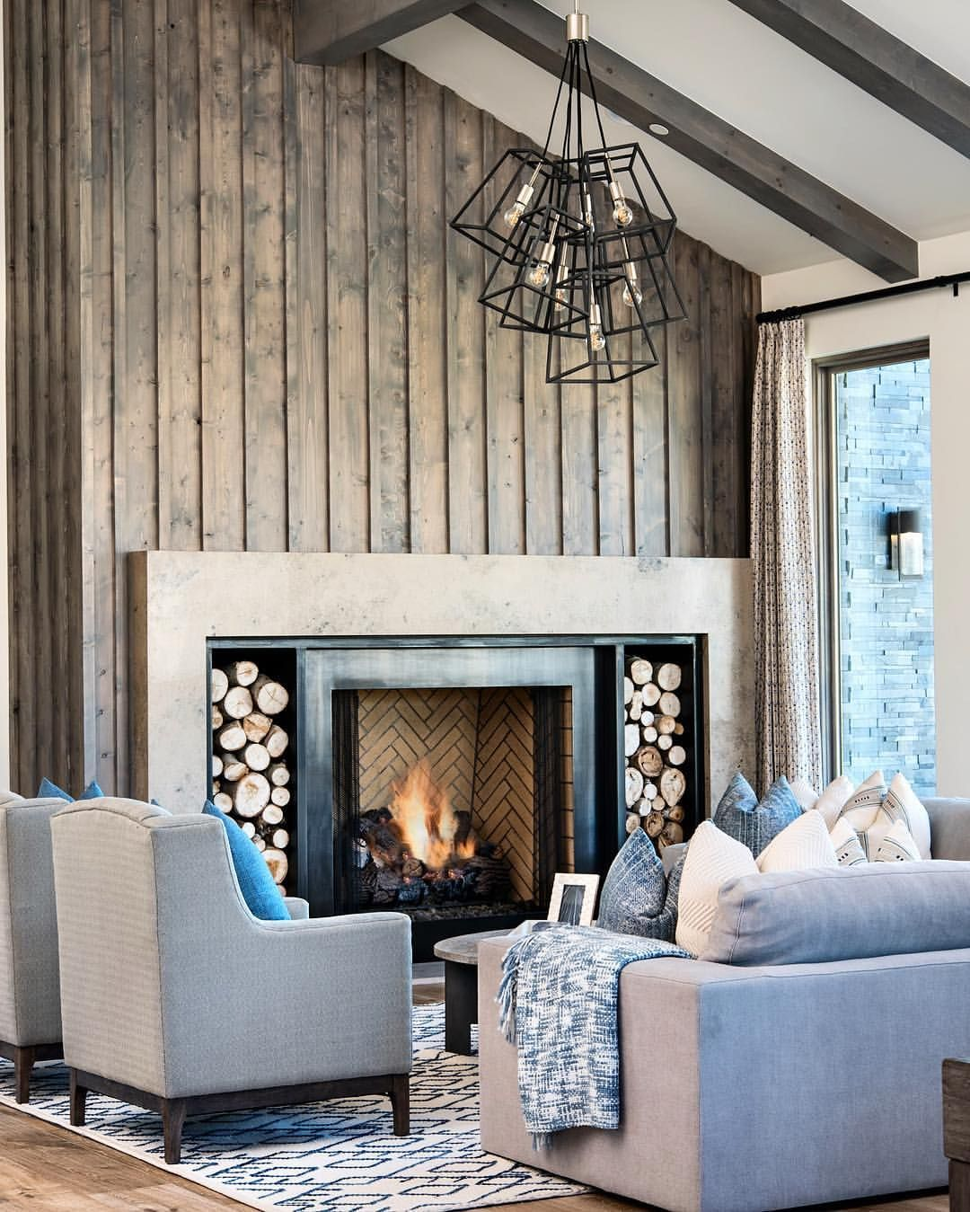 "Living Room Lighting Ideas On A Budget: Alder & Tweed On Instagram: ""This Room! This Fireplace"