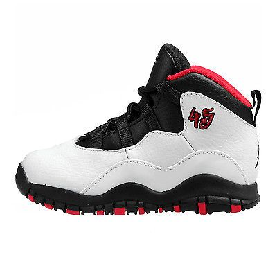 cheaper 958a5 f2582 Nike Jordan 10 X Retro Bt Td Toddler 310808-102 White Red ...