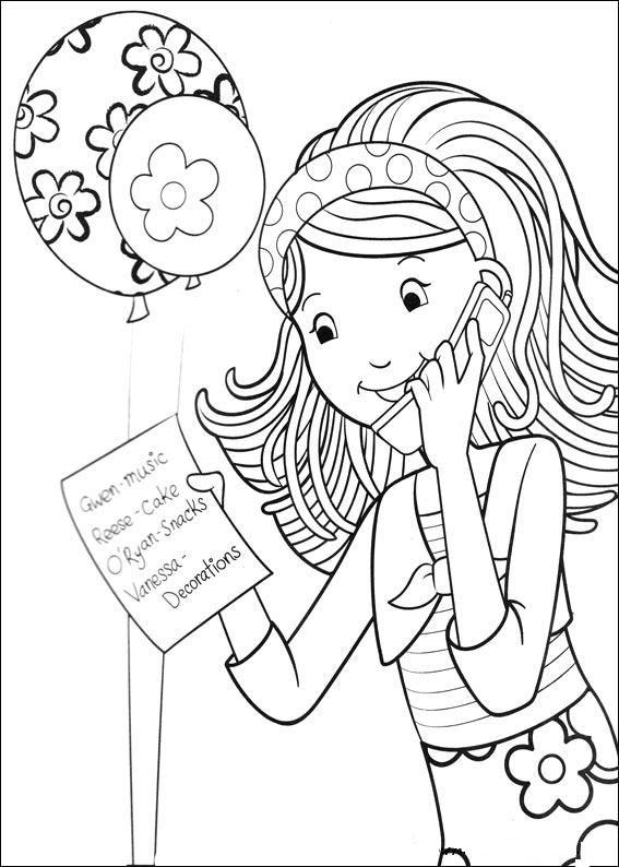 Groovy girls Digis personen Pinterest Girls Adult coloring