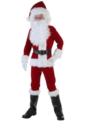Deluxe Santa Boys Costume  sc 1 st  Pinterest : santa claus child costume  - Germanpascual.Com