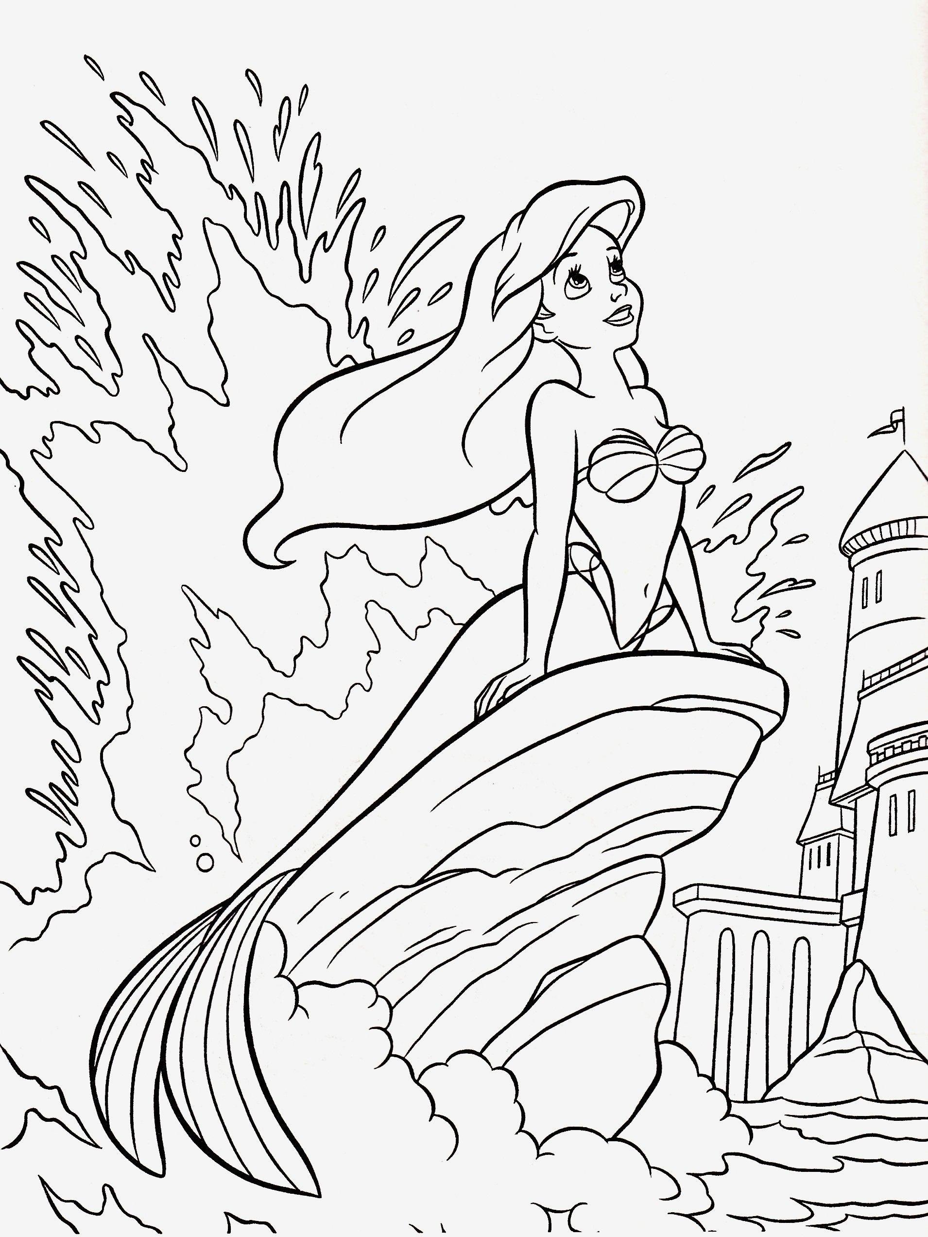 new arielle die meerjungfrau disney malvorlage  disney