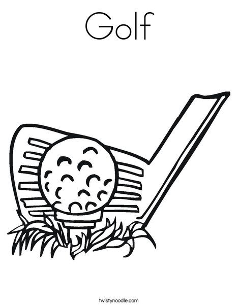 Golf Coloring Page Sports Coloring Pages Golf Drawing Coloring Pages