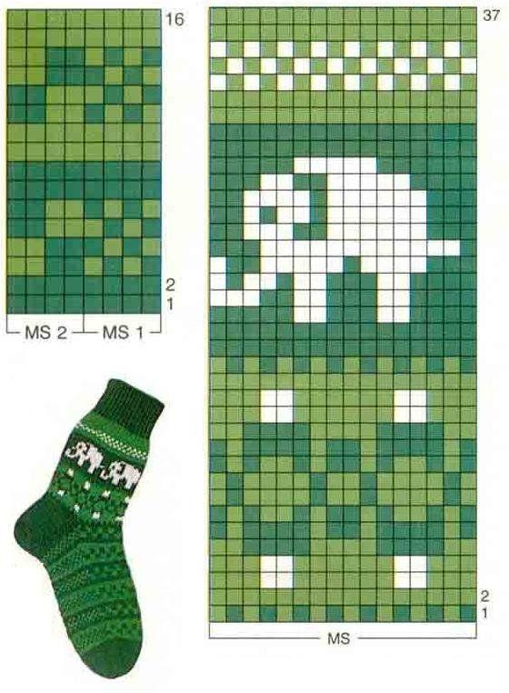жаккард слон схема: 10 тыс из... - #socks #жаккард #из #слон #схема #тыс #crochetelephantpattern