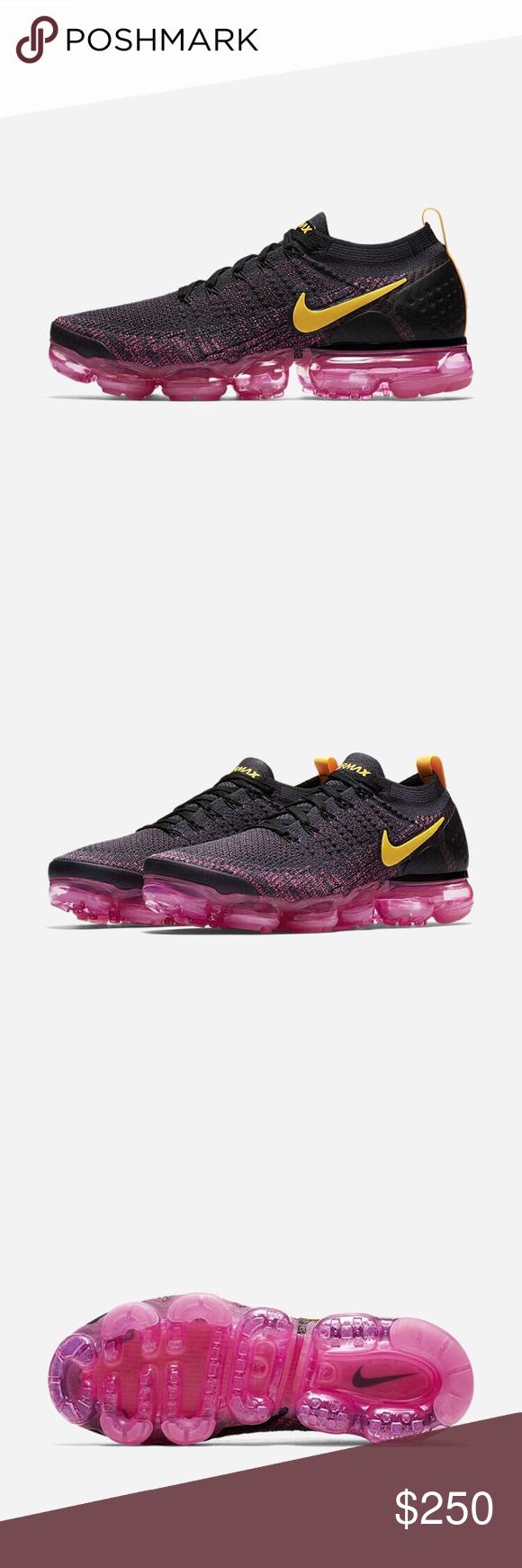 66f042777be52 Nike Air Vapormax Flyknit 2 Gridiron pink blast black laser orange Never  worn Nike Shoes Sneakers