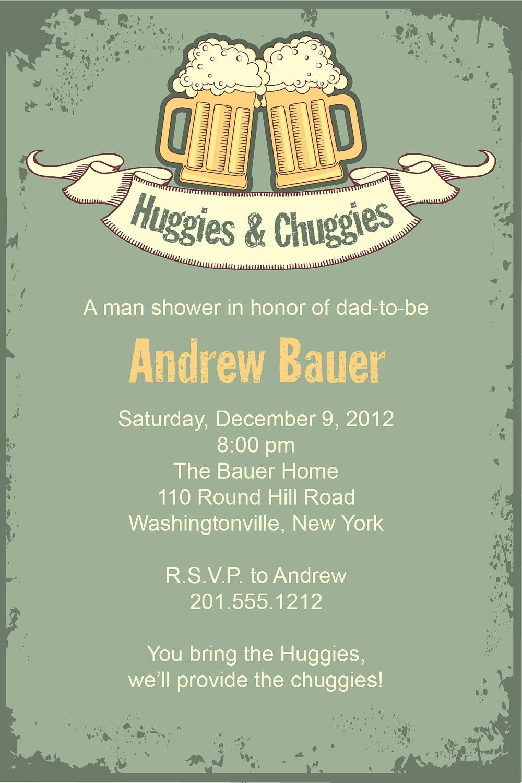 Vintage HUGGIES & CHUGGIES bbq, beer and babies Diaper Party ...