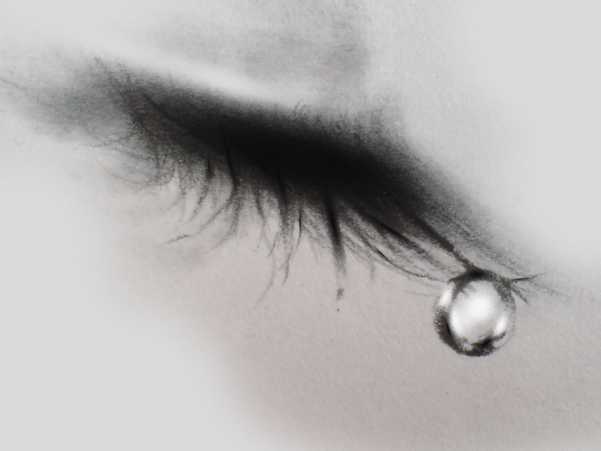Closed Eye Crying Drawing