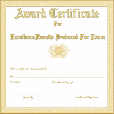 award certificate for best results in exams free printable