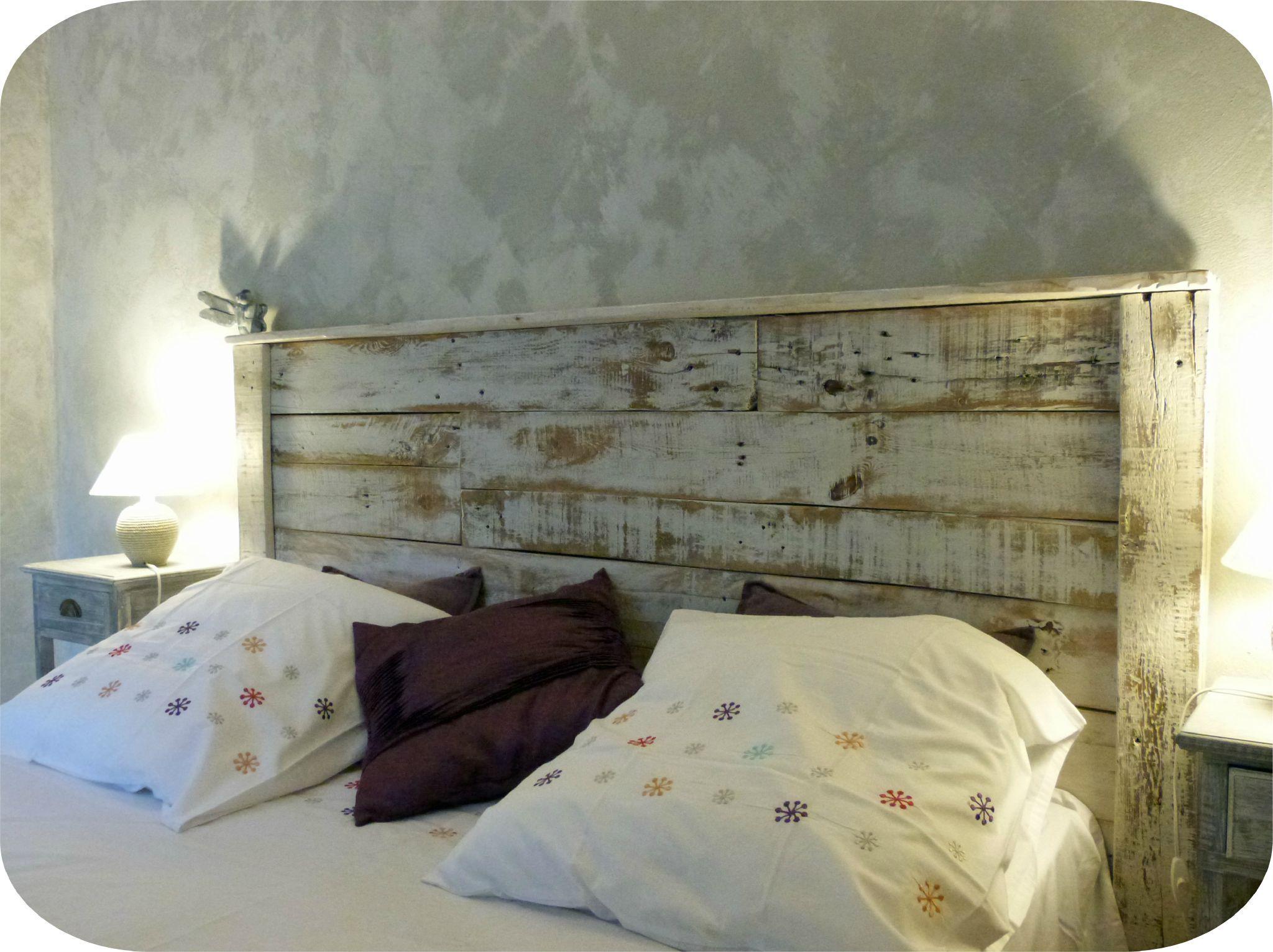 Planche Pour Tete De Lit tête de lit en bois recyclé - madame ki | lit en palette