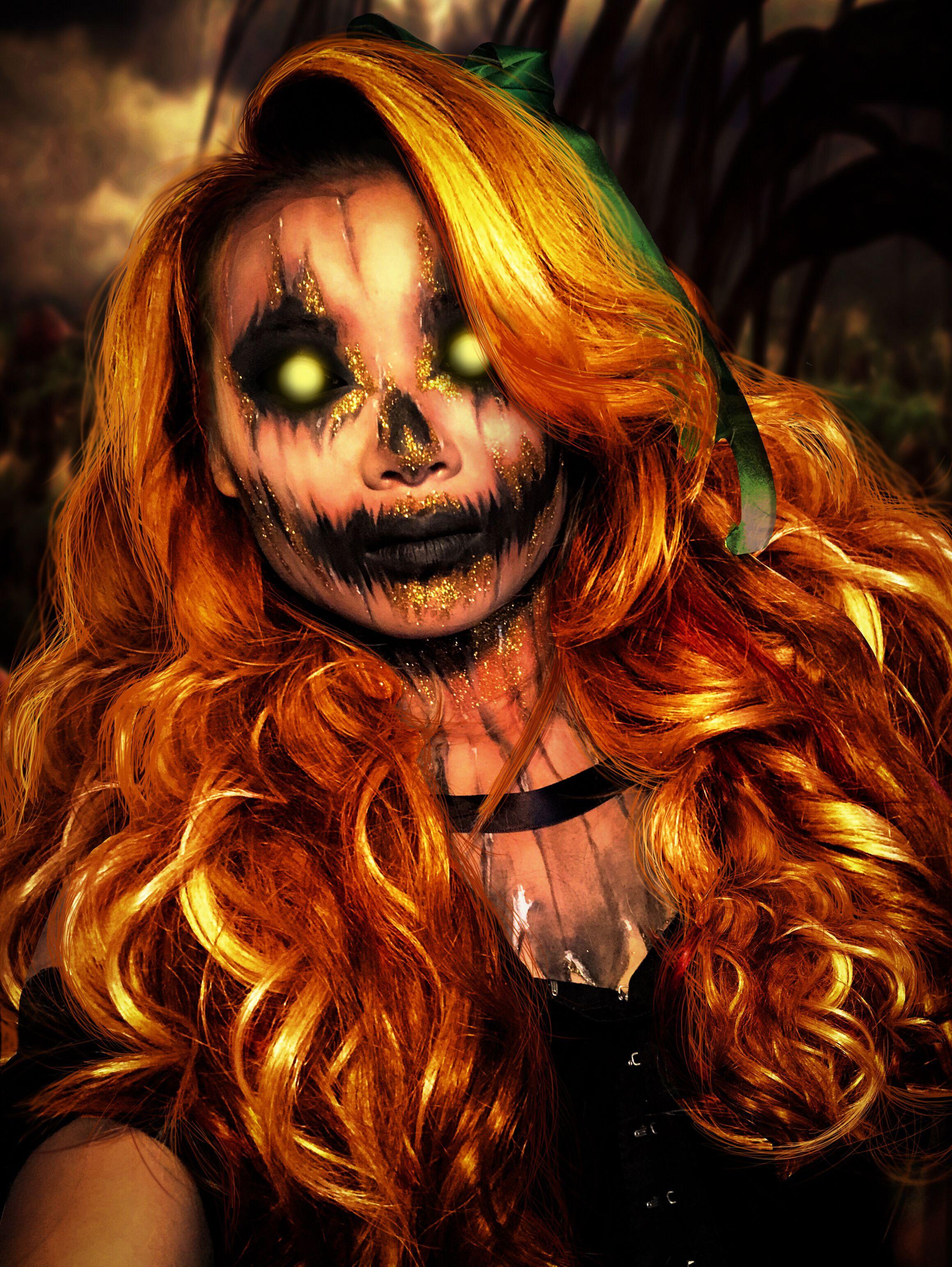 Dark Pumpkin!😮🎃 makeupartist halloween darkpumpkin