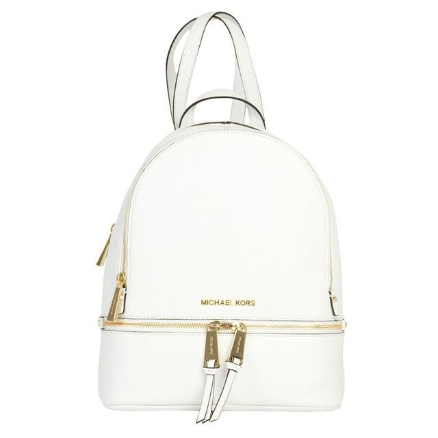 79475fc487ace6 MICHAEL Michael Kors Rhea Small Leather Backpack White | MICHAEL ...