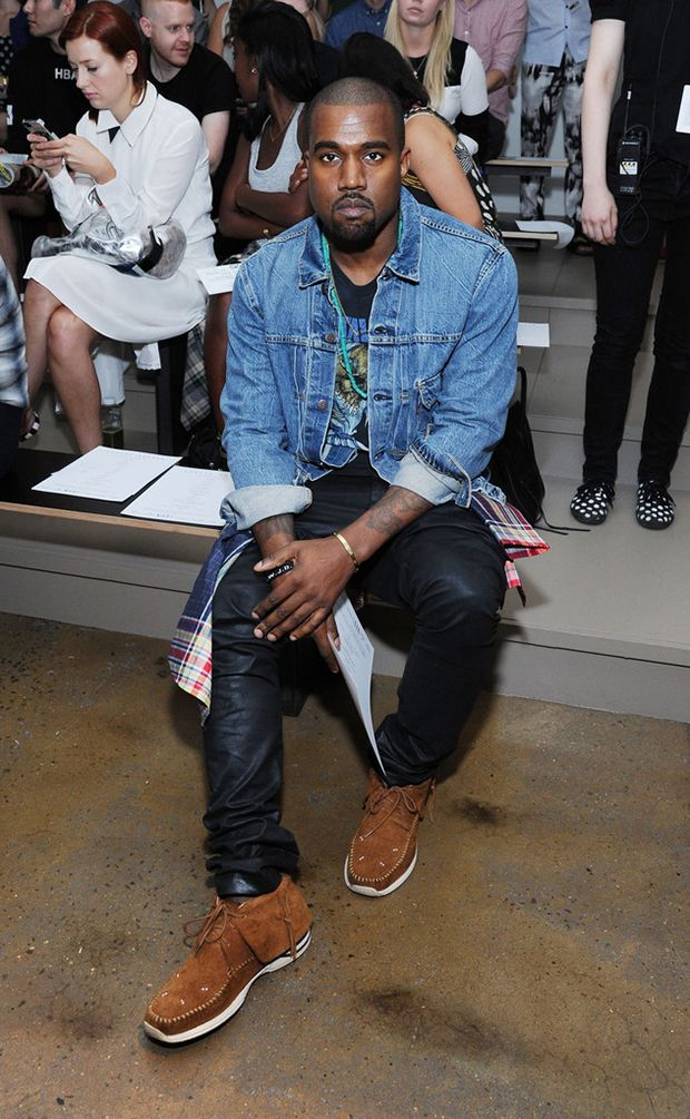 b6e6223560d5 Kanye West in Visvim sneakers